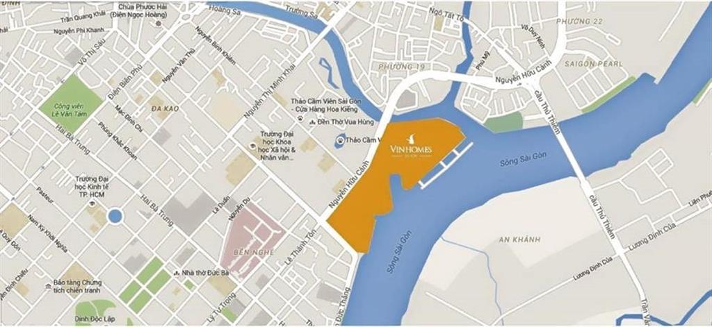 Vị trí đắc đị Vinhomes Golden River quận 1
