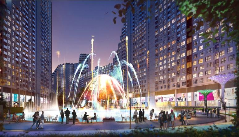 Quảng trường nước và ánh sáng River City quận 7