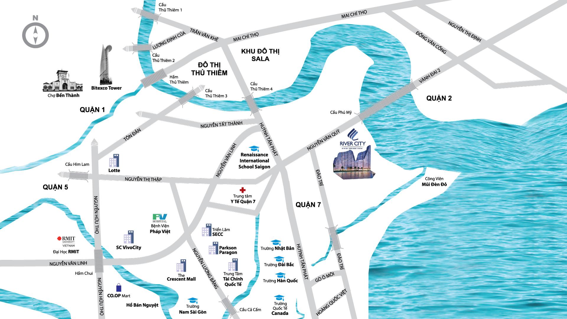 Vị trí căn hộ River City Quận 7