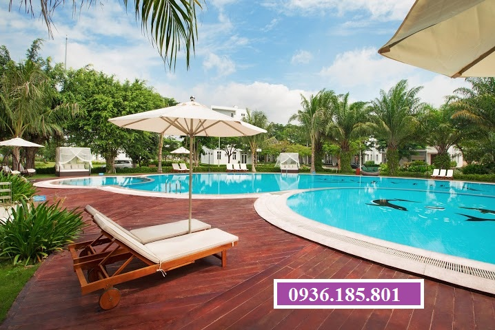 Hồ bơi chuẩn resort Villas Park quận 9