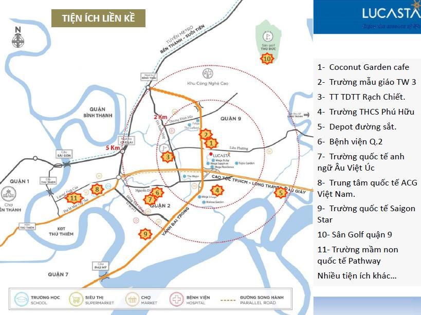 Liên kết vùng, tiện ích ngoại khu của biệt thự Lucasta Khang Điền quận 9