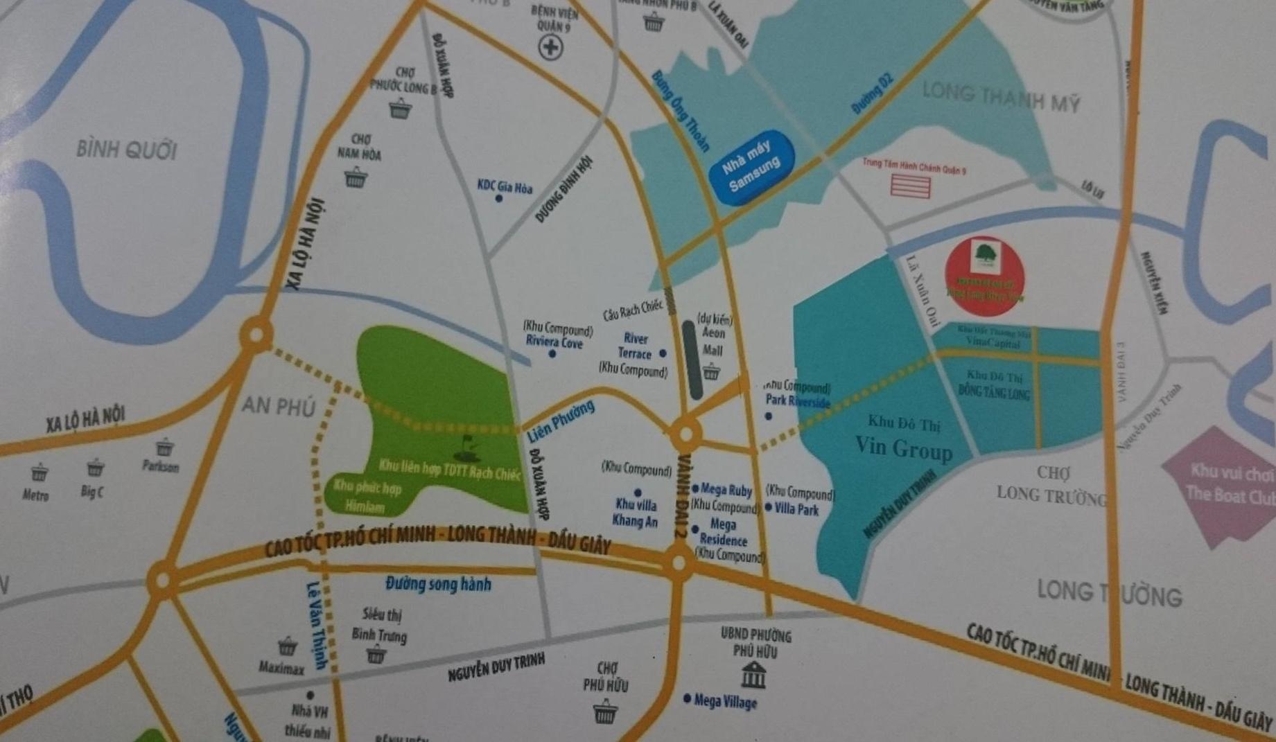 Vị trí đất nền Tăng Long RiverView