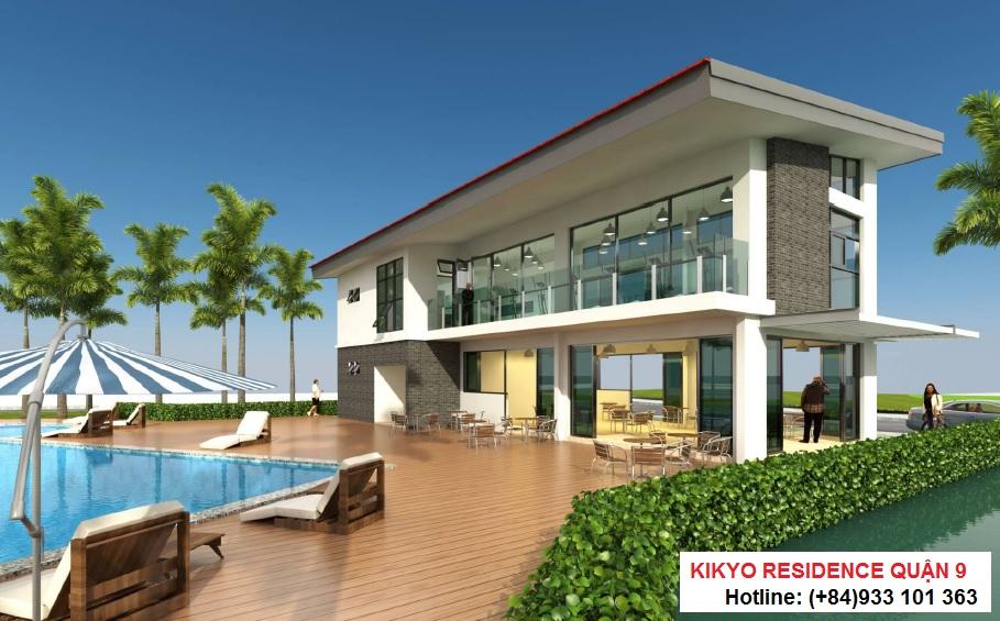 Nhà điều hành, phòng Gym, hồ bơi Kikyo Residence