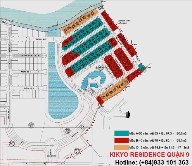 Mặt bằng tổng thể dự án Kikyo Residence quận 9