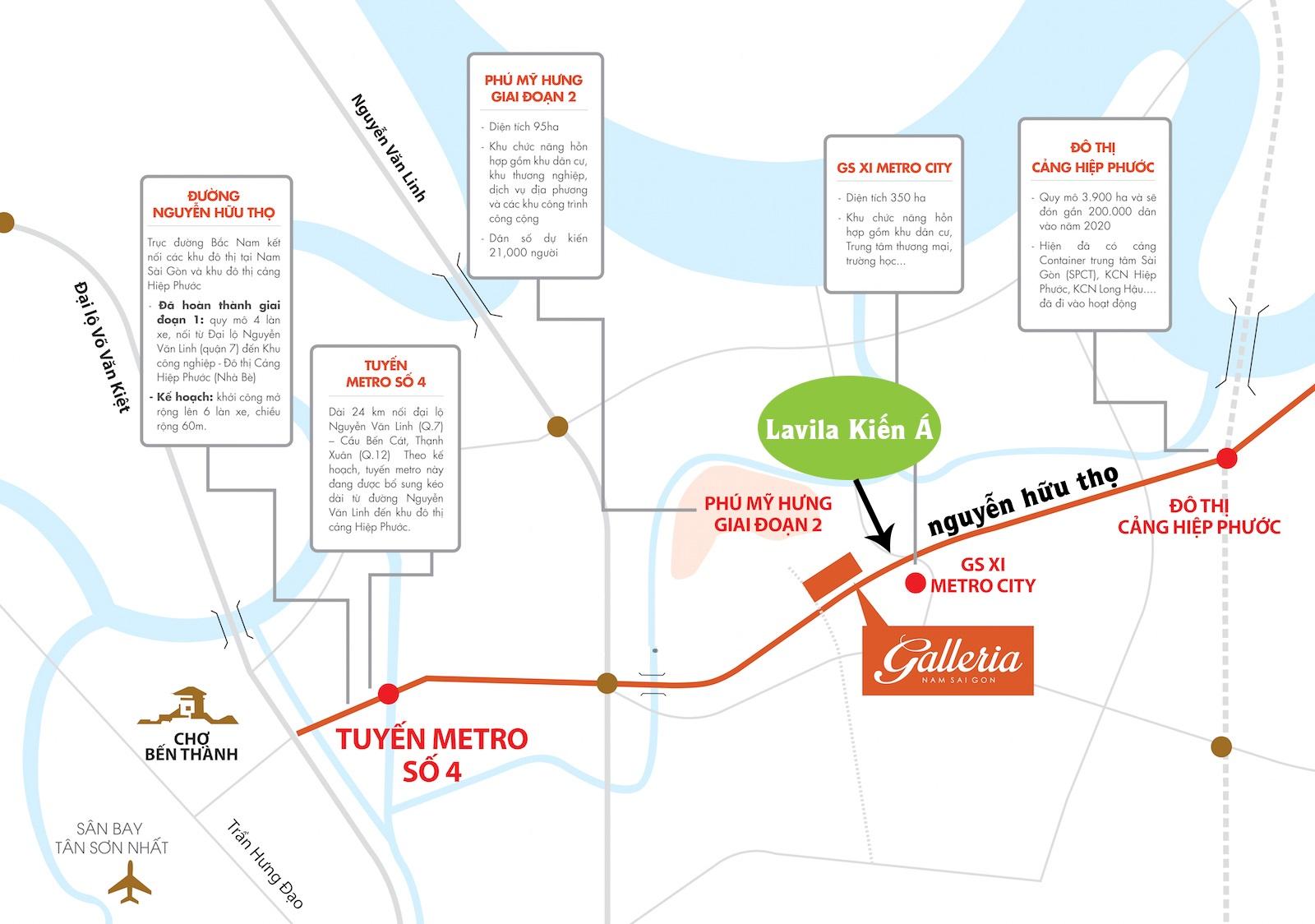 Quy hoạch dự án xung quanh khu biệt thự ven sông Lavila