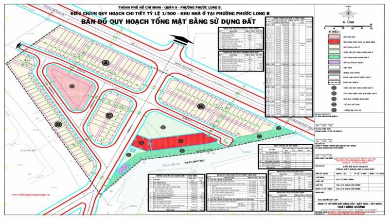 Tỉ lệ 1/500 dự án Merita Khang Điền