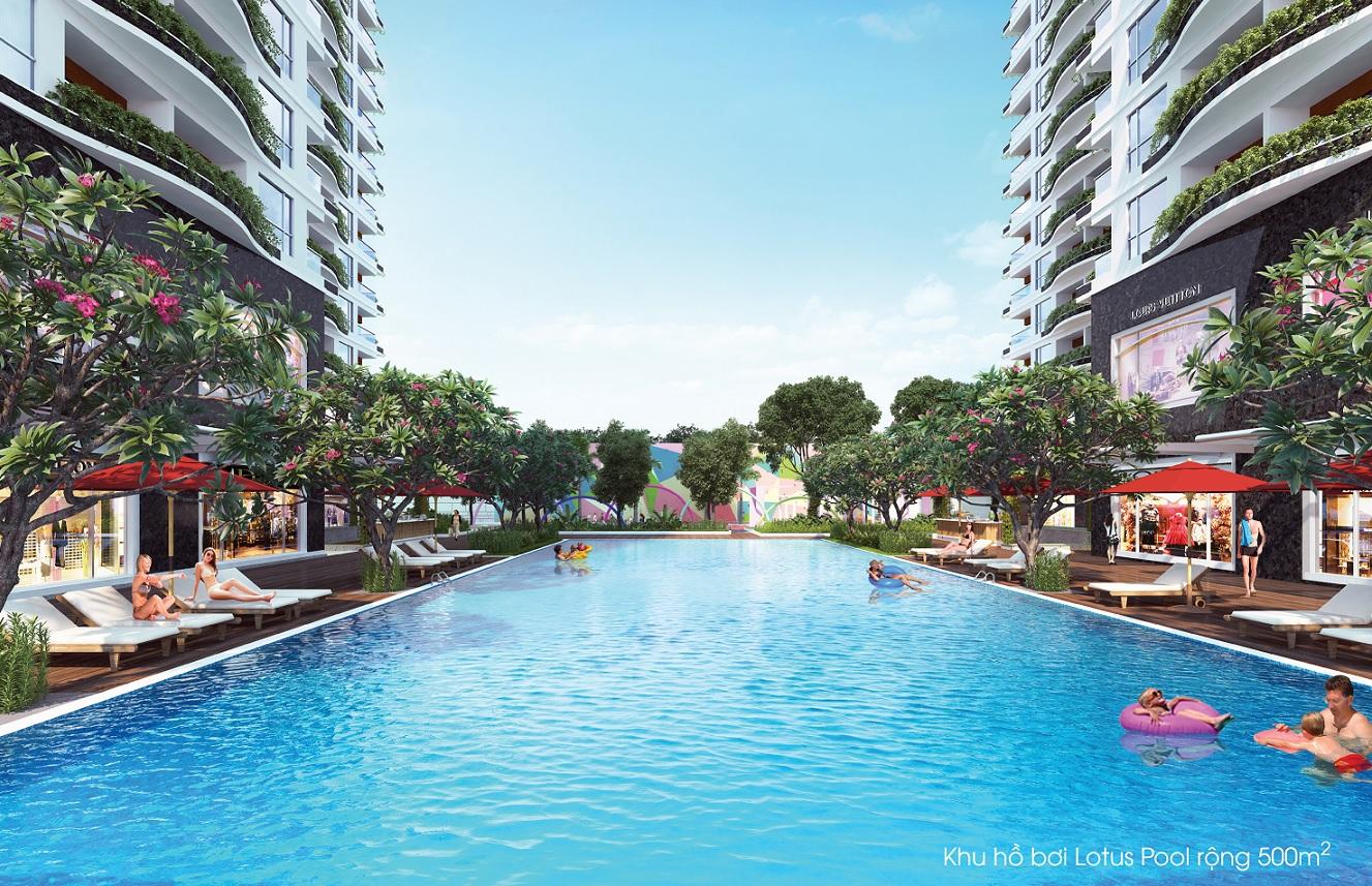 Hồ bơi tại Diamond Lotus Tân Bình
