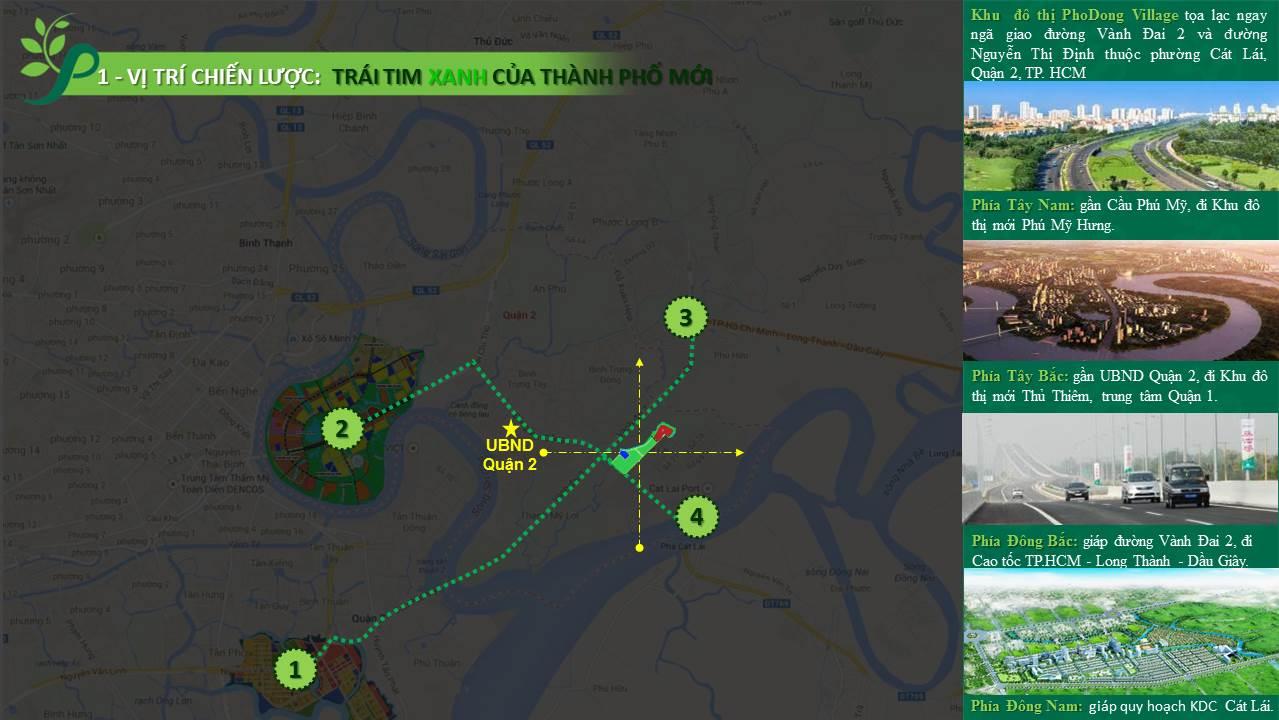 Vị trí tạo thị nhanh của PhoDong Village