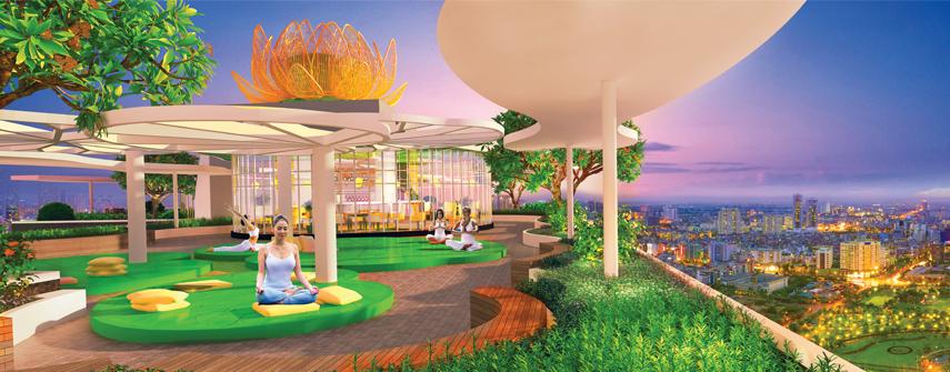 Khu thiềm ở dự án diamond lotus green world tân bình