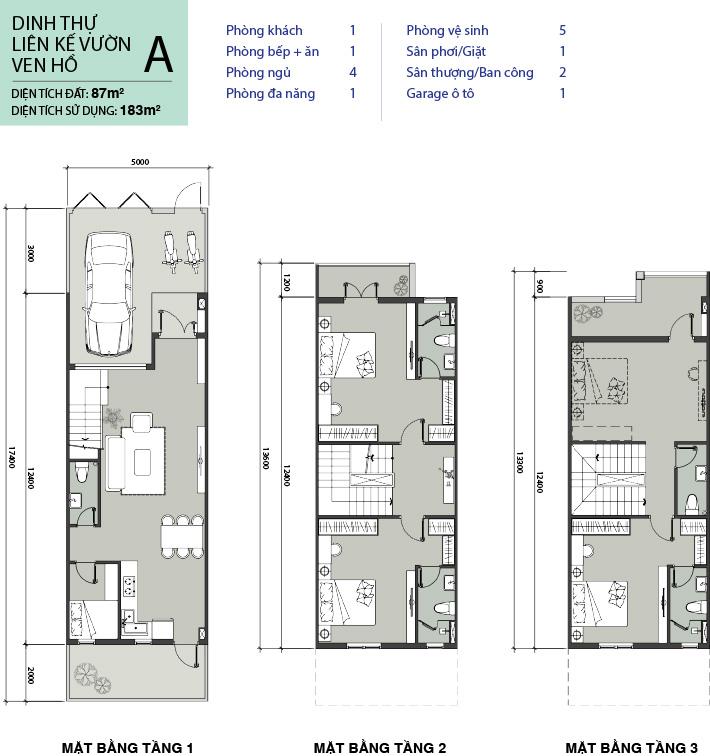 thiết kế nhà phố mẫu A