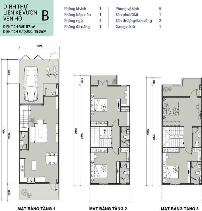 Thiết kế nhà phố mẫu B