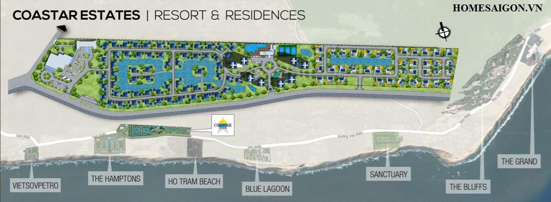 Dự án Coastar Estates Hồ Tràm trải dài 2km mặt tiền đường ven biển