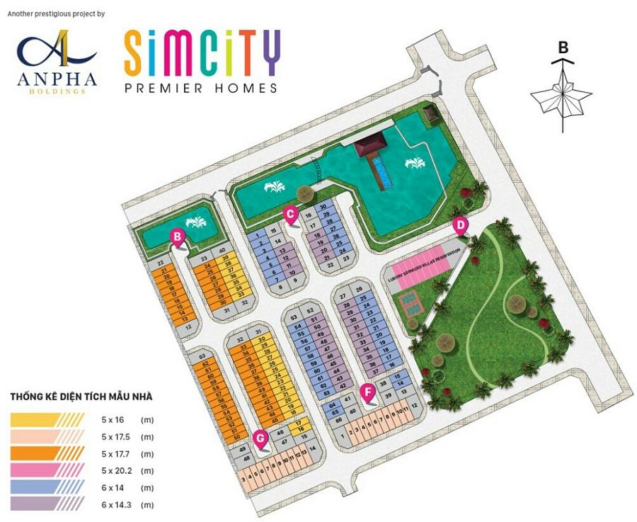 mat bang tong the du an sim city premier homes