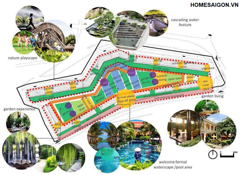 landscape du an ray river residence ho tram