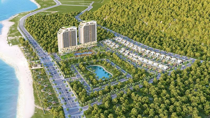 phoi canh du an the long hai resort