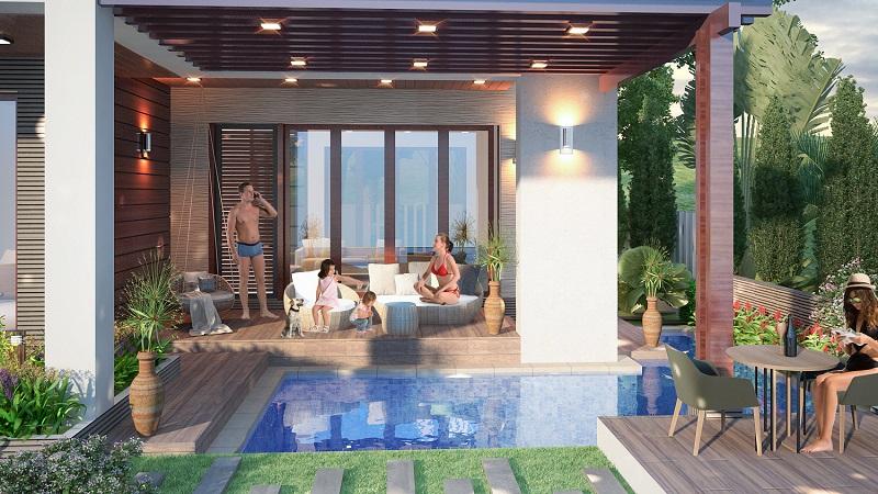 khu ho boi villa 1 paradise bay