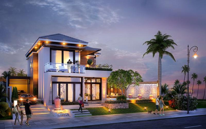 mau biet thu villa 3 du an paradise phan thiet
