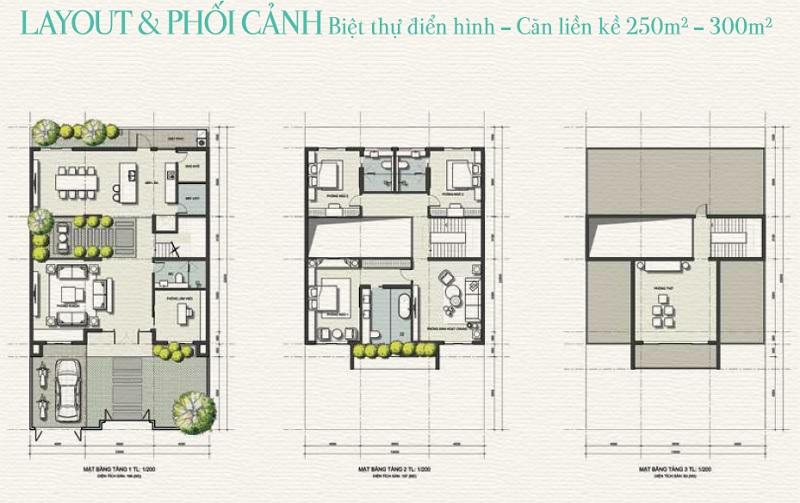 layout biet thu goldsand hill phan thiet