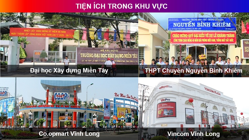 tien ich song tai vinh long newtown