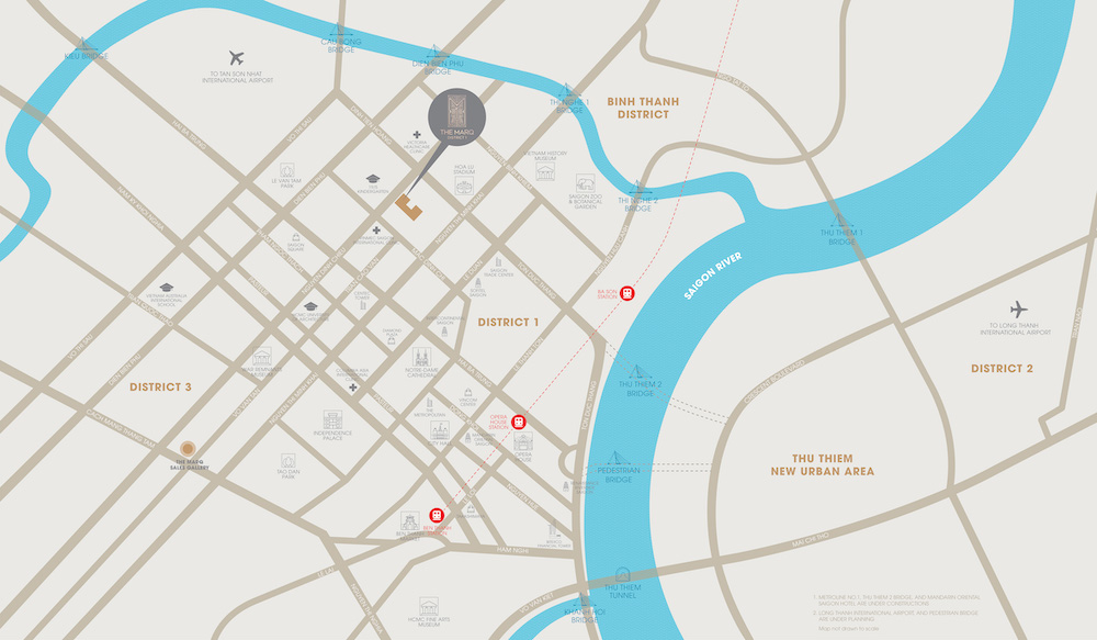 Du an THE MARQ quan1 Location Map
