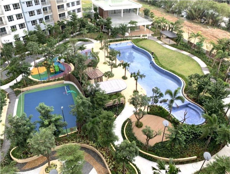 View nội khu căn hộ Palm Height