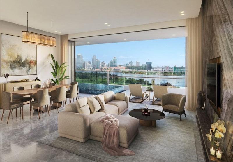 Góc view căn hộ The River