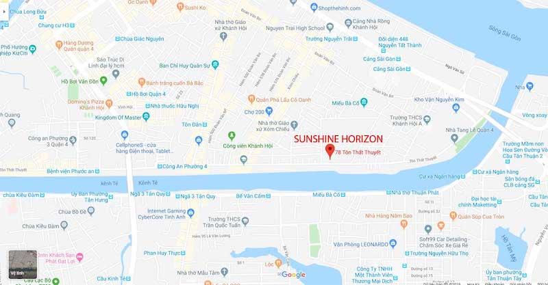 Vị trí dự án Sunshine Horizon