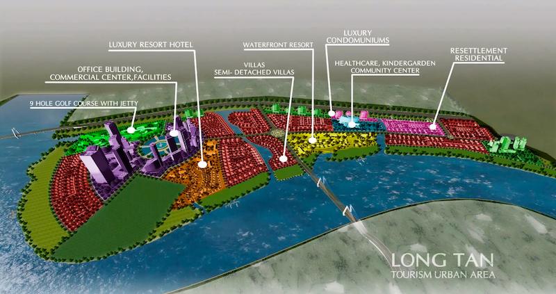 Quy hoạch các phân khu chức năng của Wisteria City