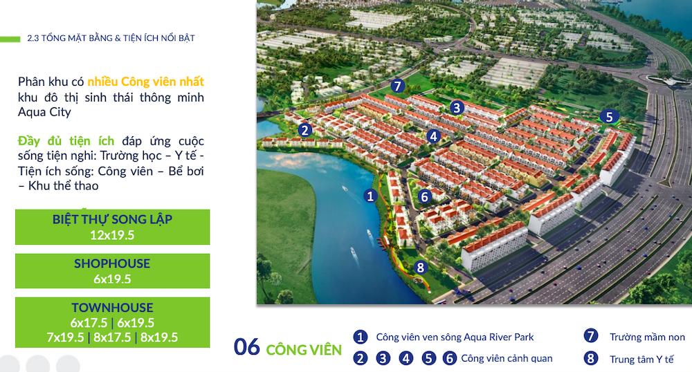 Phân khu River Park 1 |Aqua City